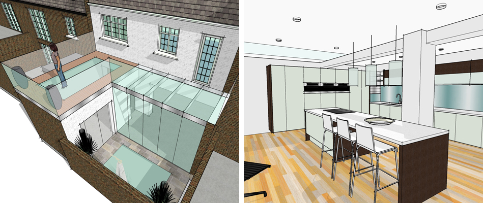 New basement and extension to terraced house SW1x