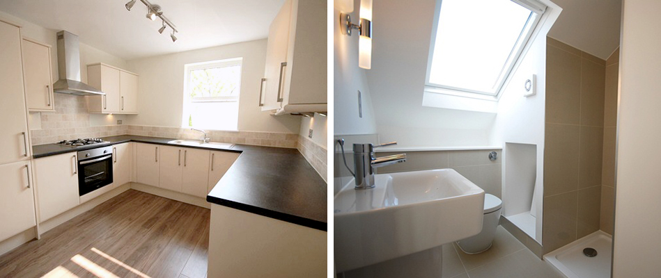 Conversion to flats of a period terraced house with extension, loft conversion, garden building