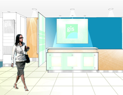 Reception area refurbishment to office building