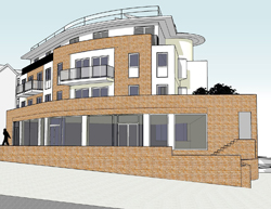 New build three/four storey mixed use building